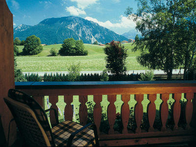 View on the bavarian alps